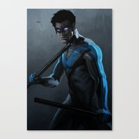 nightwing Canvas Prints featuring Nightwing by Yvan Quinet