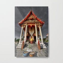 ThaI Temple Metal Print