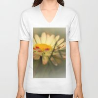 daisy V-neck T-shirts featuring Daisy by Falko Follert Art-FF77