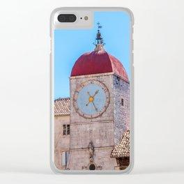 Clock tower in Trogir - Croatia Clear iPhone Case