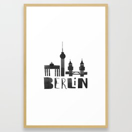 Berlin (Calligraphy Art) Framed Art Print