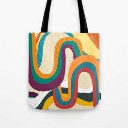 Groovy rainbow of doom Tote Bag