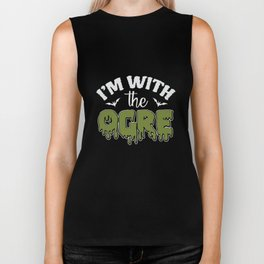 Funny Im With The Ogre Biker Tank