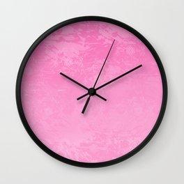 Icy Pink Abstract Wall Clock
