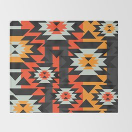 Aztec geometry Throw Blanket