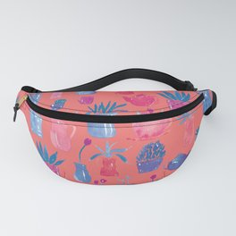 Plants in Pots | Coral and Blue Fanny Pack