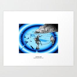 MOUNTAIN GLACIER TOUR III Art Print