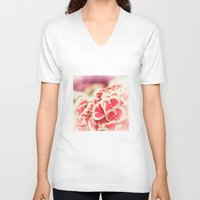 hydrangea V-neck T-shirts featuring Hydrangea by Julia Tomova