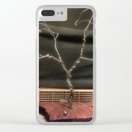 Small Rustic Wire Tree Clear iPhone Case