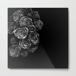 Roses Illustration Metal Print