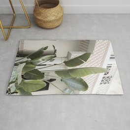 Tropical Banana Leaves Photo | Jungle Vibes In Marrakech Art Print | Morocco Travel Photography Rug