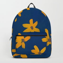 Flowers On Blue Pastel Backpack