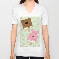bar V-neck T-shirts featuring Candy bar by SANTA