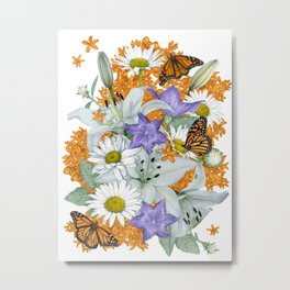 Butterfly Weed and Monarchs Metal Print
