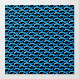 Aqua Waves Canvas Print