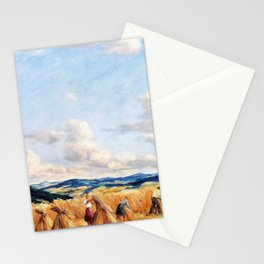 12,000pixel-500dpi - Harvest in the Czech-Moravian Highlands - Tavik Frantisek Simon Stationery Cards