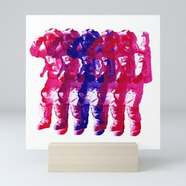 Astronaut Salute Mini Art Print
