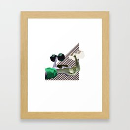 heavy lifting Framed Art Print