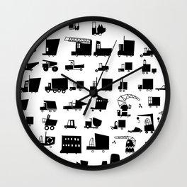 Cars and trucks  Wall Clock