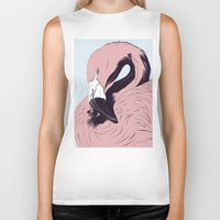 flamingo Biker Tanks featuring Flamingo by CranioDsgn