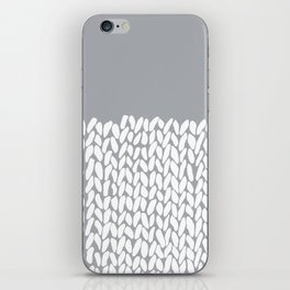 Half Knit Grey iPhone Skin