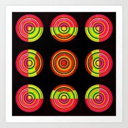 Circle # 3 squared Art Print