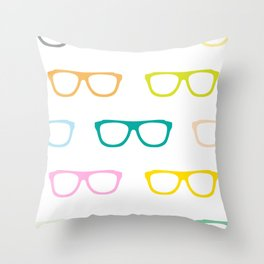 Colorful Specs Throw Pillow