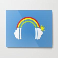 Rainbowphones Metal Print