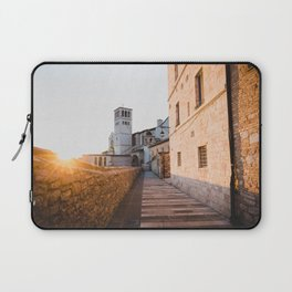 Sunset over Assisi Laptop Sleeve