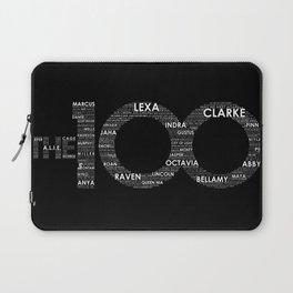 The 100 - Typography Art [white text] Laptop Sleeve
