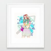 sagittarius Framed Art Prints featuring Sagittarius by Sara Eshak