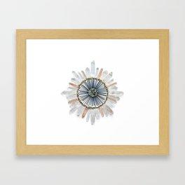 Stillness Crystal Grid Framed Art Print