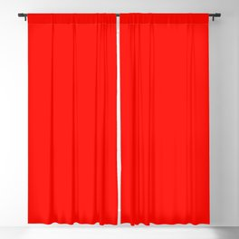 color candy apple red Blackout Curtain