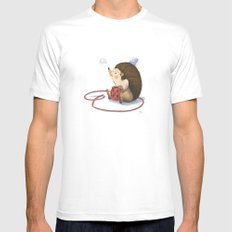 Hedgy White Mens Fitted Tee MEDIUM