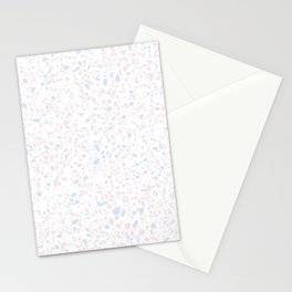'Speckle Party' Lilac + Pink Dots Speckle Terrazzo Pattern Stationery Cards