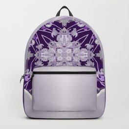 Vinyl Record Illusion in Purple Backpack