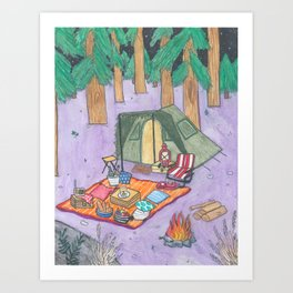 CAMPING RETREAT Art Print