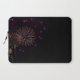Purple Fireworks Laptop Sleeve