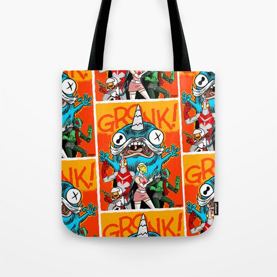 the Cryptid Crew VS Uncle Corny Kaiju Tote Bag