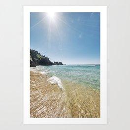 Paradise at Pedn Vounder Beach, Cornwall Art Print