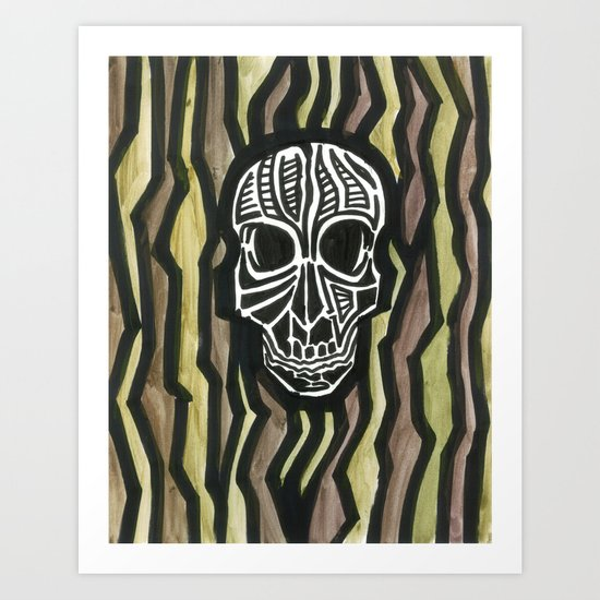 Skull Fiber Art Print