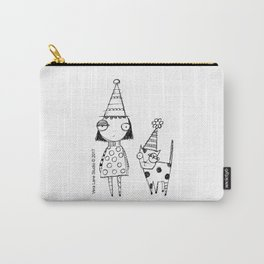 Party girl and cat Carry-All Pouch