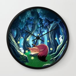 Lonely fox Wall Clock