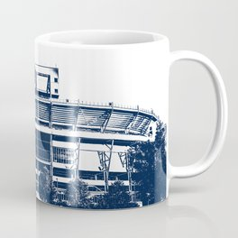 Penn State Football Stadium Blue Design Coffee Mug
