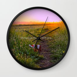 A Day Spent With You Wall Clock