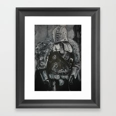 Winter Knight Framed Art Print