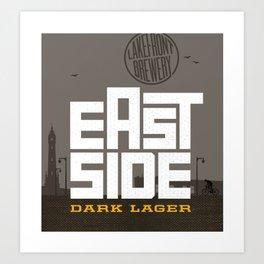 Eastside Dark Lager Art Print