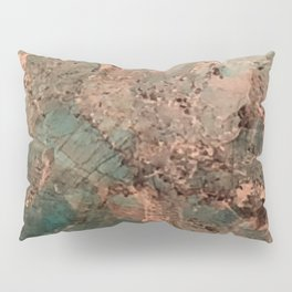 Marble Emerald Copper Blue Green Pillow Sham