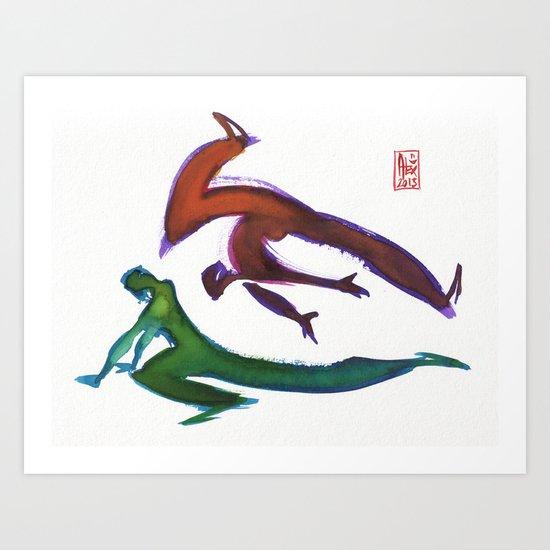 Capoeira 252 Art Print