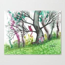 Padua Whimsical Cat Canvas Print